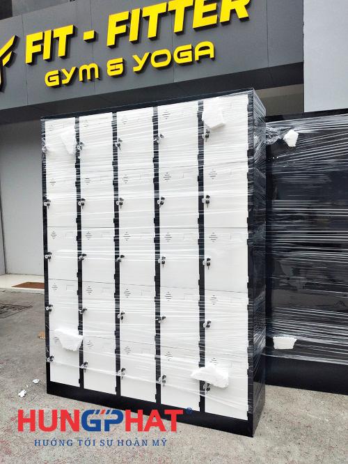 Cung cấp tủ locker 25 ngăn cho phòng tập gym tại Ba Đình2
