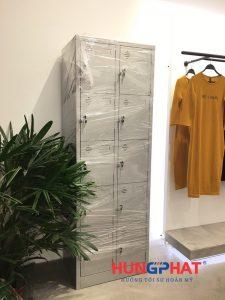 Tủ locker 10 ngăn phân phối cho khách hàng tại Đông Anh