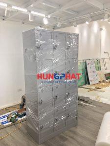 Bàn giao thành công 10 bộ tủ locker 12 ngăn tại Linh Đàm, Hà Nội