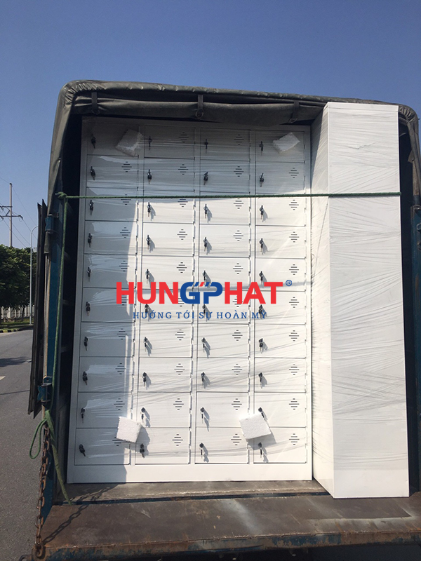 Sản xuất tủ locker 40 ngăn theo yêu cầu tại Thanh Xuân
