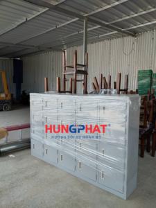 Cung cấp tủ sắt mầm non 20 ngăn màu ghi tại Phú Thượng