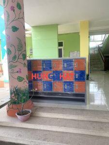 Tủ mầm non 18 ngăn cung ứng cho khách hàng tại Bắc Giang