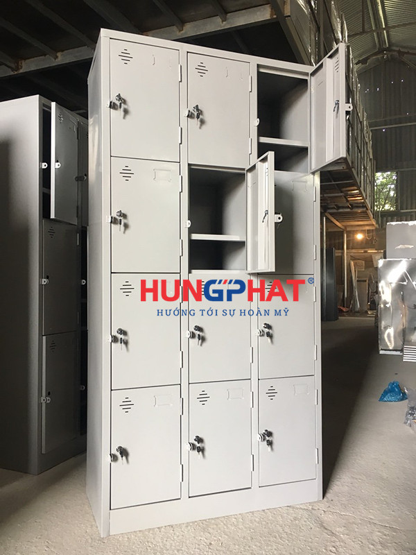 Phân phối tủ locker 12 ngăn thêm khay tại Trần Đại Nghĩa