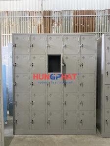 Sản xuất tủ locker 25 ngăn cho khách hàng tại Ba Đình